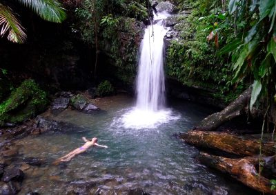 Different waterfalls around the island